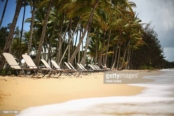 A general view of the beach is seen on November 13 2012 in Palm Cove Australia Located in Far North Queensland the Cairns region is one of...