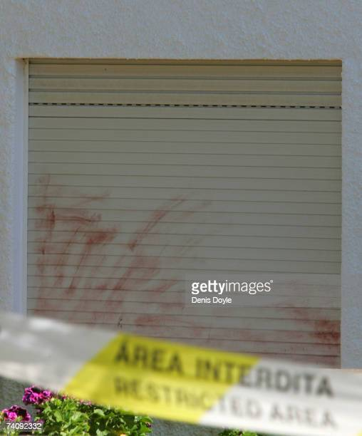 A general view of the bedroom window where English girl Madeleine McCann aged three went missing on May 7 2007 in Praia da Luz Portugal Madeleine...