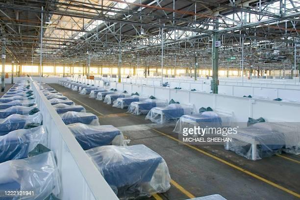 General view of the beds in the Rev Dr Elizabeth Mamisa Chabula-Nxiweni Field Hospital in Korsten, Port Elizabeth on June 22, 2020. - The Rev Dr...