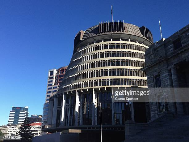 A general view of the Beehive executive wing of Parliament in Wellington New Zealand