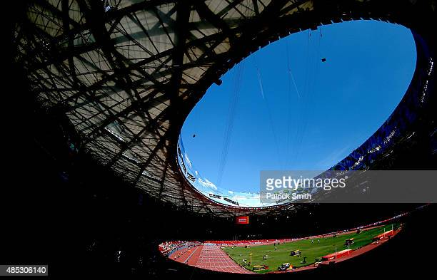 A general view of the Beijing National Stadium during day six of the 15th IAAF World Athletics Championships Beijing 2015 at Beijing National Stadium...