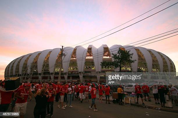 General view of the Beira-Rio Stadium during its inauguration, in Porto Alegre, Rio Grande do Sul, Brazil on April 5, 2014. The Beira Rio Stadium is...