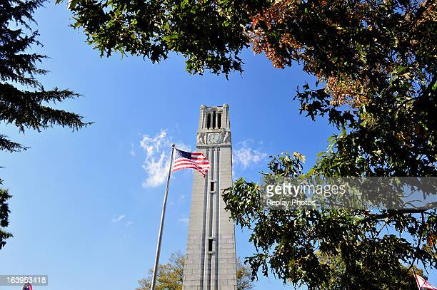 General view of the Bell Tower on the campus of North Carolina State University on October 19, 2012 in Raleigh, North Carolina.