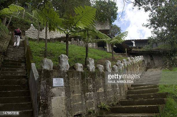 General view of the Benedictine monks convent taken during the opening of the first mausoleum for victims of violence in Colombia in Envigado...