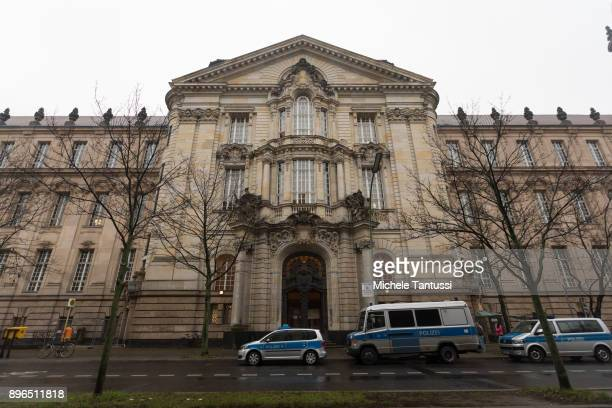A general view of the Berlin Criminal courthouse during the trial of Sardar H a former member of a local chapter of the 'Hell's Angels' motorcycle...