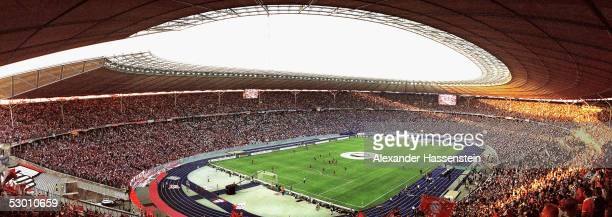 A general view of the Berlin Olympic Stadium during the Federations Cup Final between FC Schalke 04 and Bayern Munich on May 28 2005 in Berlin Germany