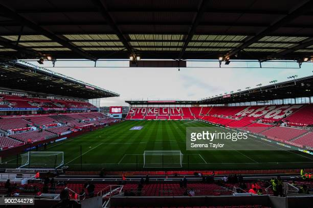 A general view of the Bet365 Stadium for the Premier League match between Stoke City and Newcastle United at Bet365 Stadium on January 1 in Stoke on...