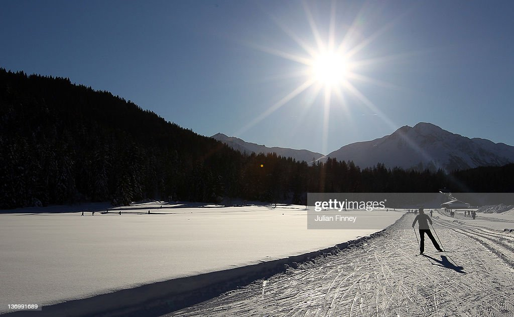 A general view of the Biathlon training during the Winter Youth Olympic Games Ski Jumping at Seefeld Arena on January 14, 2012 in Seefeld, Austria.