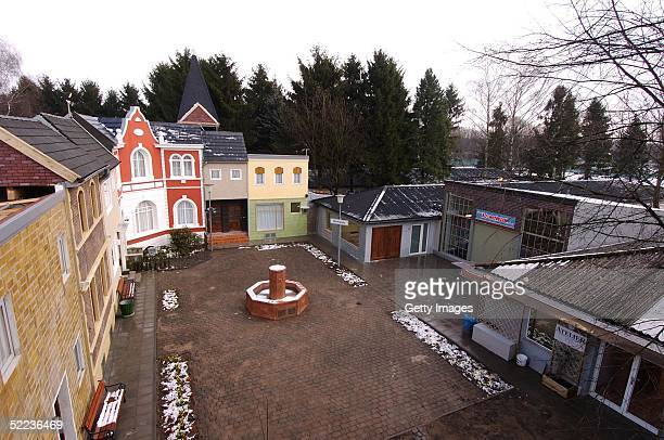 """General view of the """"Big Brother Village"""" on February 23, 2005 in Cologne, Germany."""