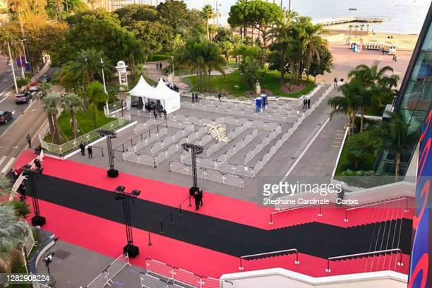 """General view of the Black Carpet to pay Tribute To Nice Terrorist Attack Victims prior the Best Short Film Palme D'Or Award Ceremony of the """"Special..."""