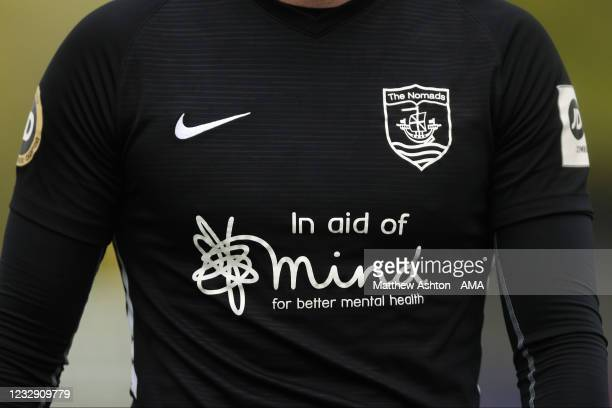 General view of the black Nike away shirt of Connah's Quay Nomads sponsored by the Mind Mental Health charity during the Cymru Welsh Premier League...
