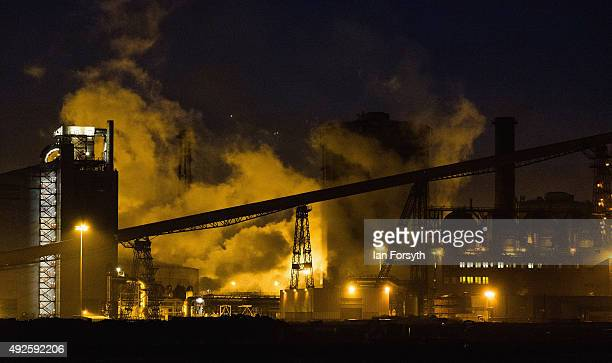 A general view of the blast furnace at the SSI UK steel making site on October 14 2015 in Redcar England Following the recent announcement that the...