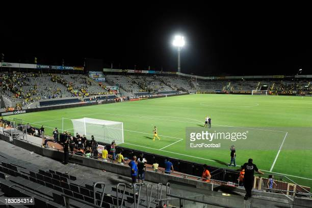 General view of the Bloomfield Stadium, home of Maccabi Tel-Aviv FC taken during the UEFA Europa League group stage match between Maccabi Tel-Aviv FC...