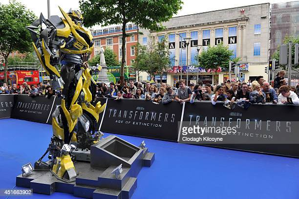 General view of the blue carpet at the Irish Premiere of Transformers 4 Age of Extinction at Savoy Cinema on July 3 2014 in Dublin Ireland