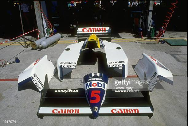 General view of the bodywork of Nigel Mansells'' Williams Honda before the Brazilian Grand Prix at the Rio circuit in Brazil Mansell finished in...