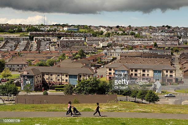 A general view of the Bogside area of Londonderry where the Bloody Sunday killings took place in 1972 on June 14 2010 in Londonderry Northern Ireland...