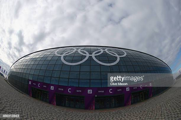 General view of the Bolshoy Ice Dome prior to the Sochi 2014 Winter Olympics at the Olympic Park on February 1, 2014 in Sochi, Russia.