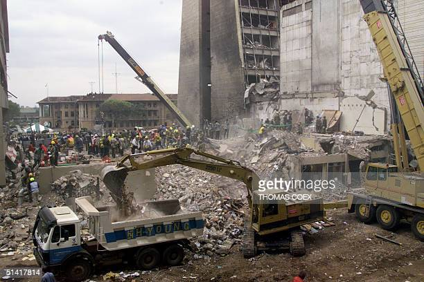 General view of the bombing site 11 August in Nairobi five days after the deadly bomb attack there The death toll in two almost simultaneous bombings...