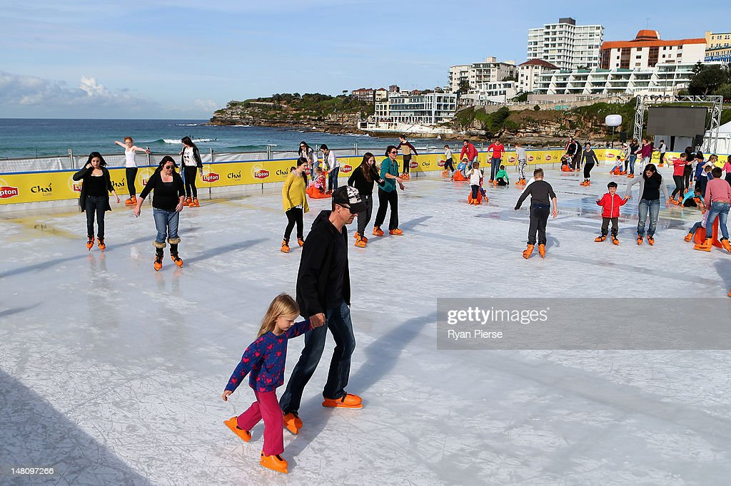 A General View Of The Bondi Beach Ice Rink On July   In Sydney