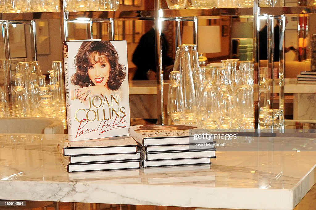 A general view of the book 'Passion For Life' by Joan Collins before a fan signing at Selfridges on October 26, 2013 in London, England.