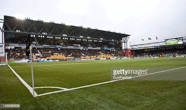 General view of the Boras Arena, home of IF Elfsborg taken during the Swedish Allsvenskan League match between IF Elfsborg and GAIS Goteborg held on...