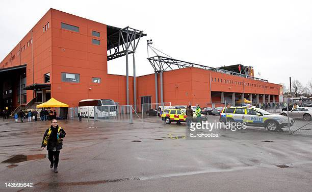 General view of the Boras Arena home of IF Elfsborg taken during the Swedish Allsvenskan League match between IF Elfsborg and GAIS Goteborg held on...