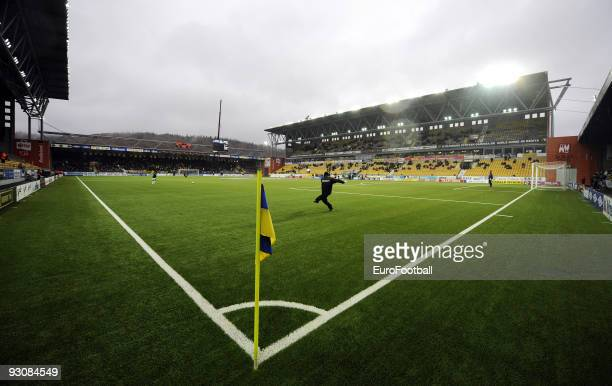 General view of the Boras Arena taken during the Allsvenskan League match between IF Elfsborg and BK Hacken held on October 25, 2009 at the Boras...