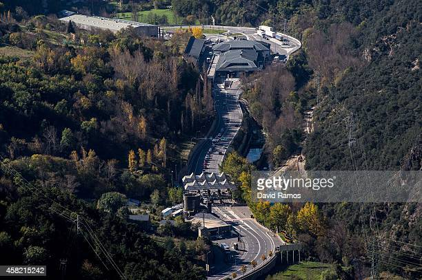 General view of the border between Spain and Andorra on October 31, 2014 in La Seu d'Urgell, Spain. Andorra is a tax haven status although it is in...