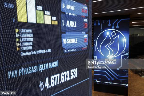 A general view of the Borsa Istanbul office in Istanbul Turkey on January 02 2018 The BIST 100 Index has increased to 11684931 points being the...