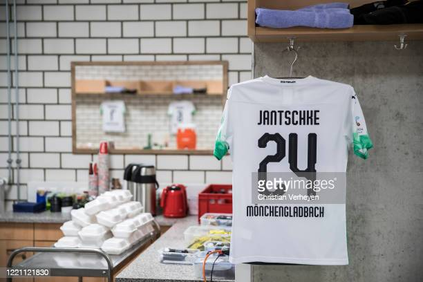 A general view of the Borussia Moenchengladbach players room ahead the Bundesliga match between SC Paderborn and Borussia Moenchengladbach at...