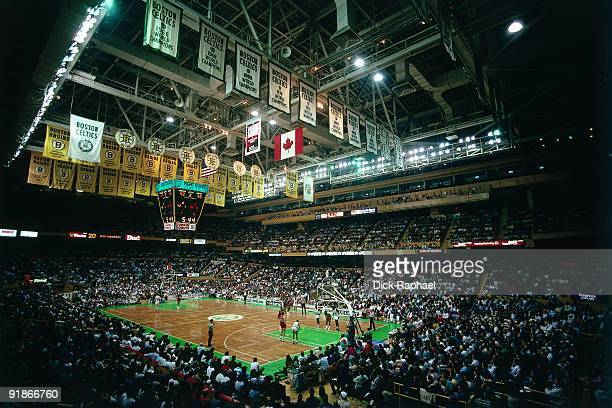 A general view of the Boston Garden during a Boston Celtics game played in 1986 at the Boston Garden in Boston Massachusetts NOTE TO USER User...