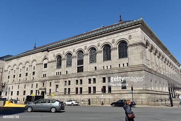 BOSTON MA APRIL17 A general view of the Boston Public Library in Copley Square on April 17 2014 in Boston