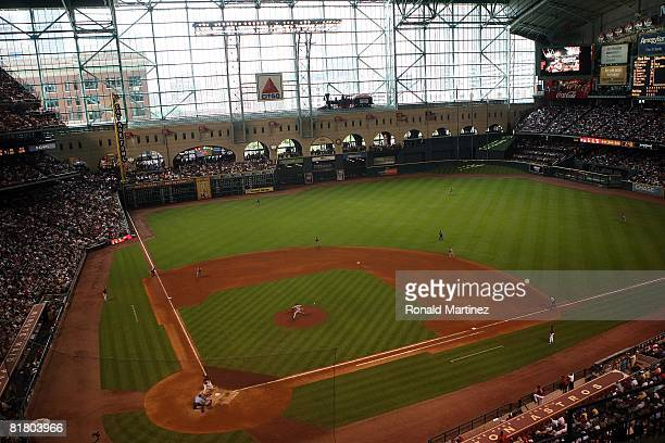 General view of the Boston Red Sox and the Houston Astros during Interleague MLB action on June 29 2008 at Minute Maid Park in Houston Texas