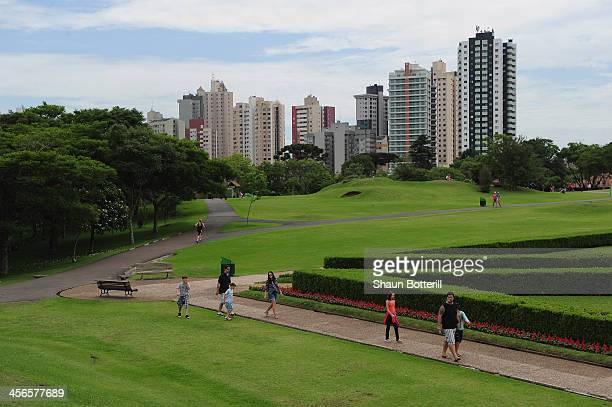 A general view of the Botanical Gardens in the city on December 14 2013 in Curitiba Brazil