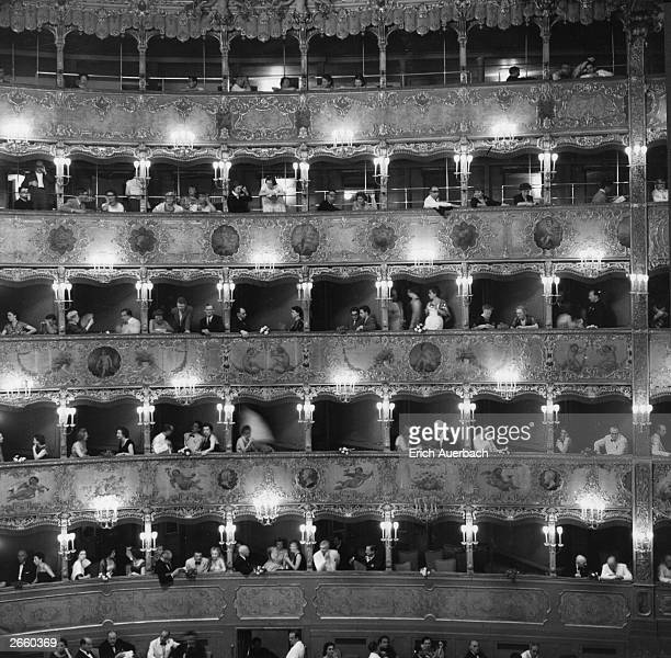 A general view of the boxes at La Fenice the Venice Opera House