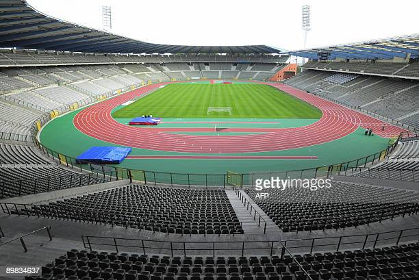 A general view of the brand new athletics track of the King Baudouin stadium in Brussels on August 17 2009 The Golden League Memorial Van Damme...