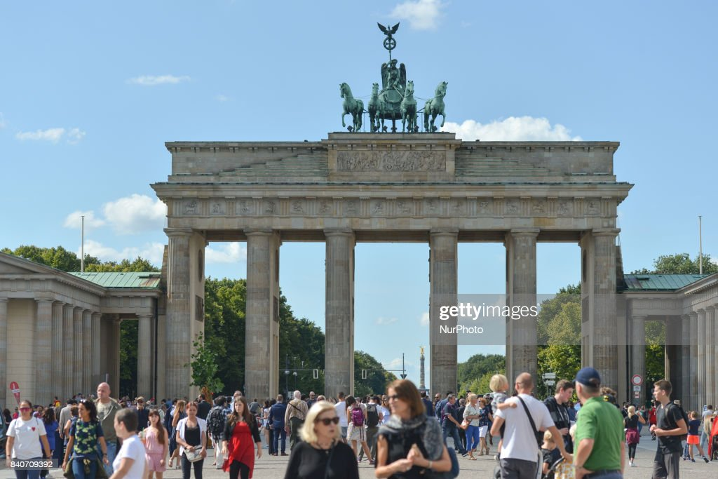 A general view of the Brandenburg Gate monument in Berlin. On Tuesday, August 29, 2017, in Berlin, Germany.