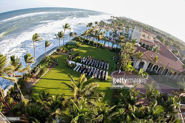 General view of The Breakers the venue where Sofia Vergara and Joe Manganiello's wedding is to be held November 17 2015 in Palm Beach Florida