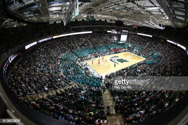 General view of the Breslin Center during the Michigan State Spartans and Wisconsin Badgers basketball game on January 26 2018 in East Lansing...