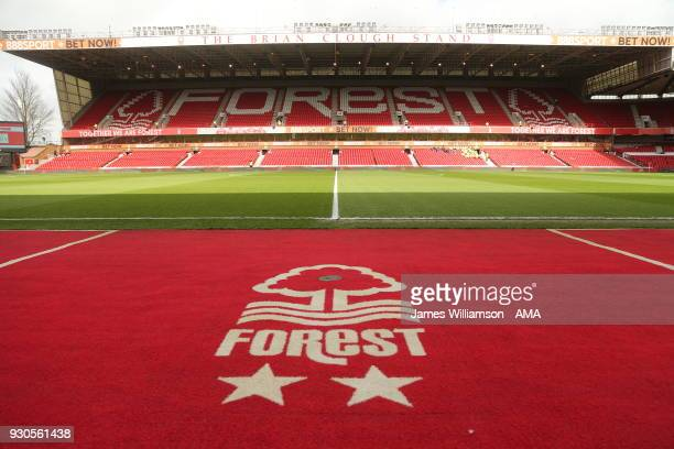 General view of the Brian Clough stand at Nottingham Forest's stadium The City Ground during the Sky Bet Championship match between Nottingham Forest...