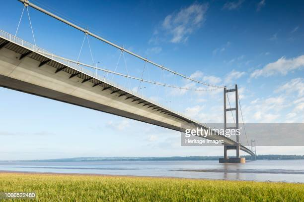 Humber Bridge Hessle East Riding of Yorkshire circa 1981 circa 2018 General view of the bridge from the southeast Opened to traffic in 1981 this...
