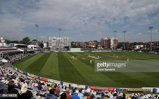 General view of the BrightonandHoveJobs.com County Ground during the LV County Championship match between Sussex and Yorkshire at...