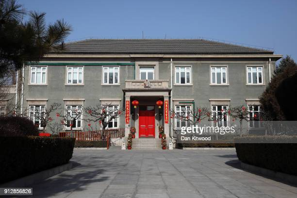General view of the British Embassy on February 1, 2018 in Beijing, China. Theresa May, who is on a three day visit to China will meet Chinese...