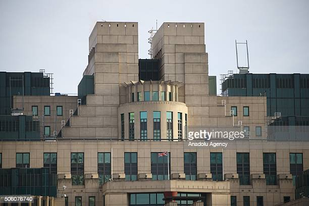 A general view of the British Secret Intelligence Service commonly known as MI6's headquarters at Vauxhall Cross in London United Kingdom on January...