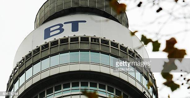 A general view of the British Telecom Tower in central London on November 13 2008 British telecoms operator BT Group said Thursday it will cut 10000...