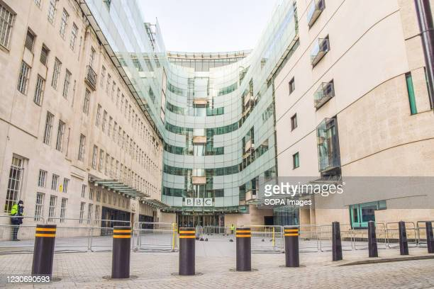 General view of the Broadcasting House, BBC headquarters in Central London.