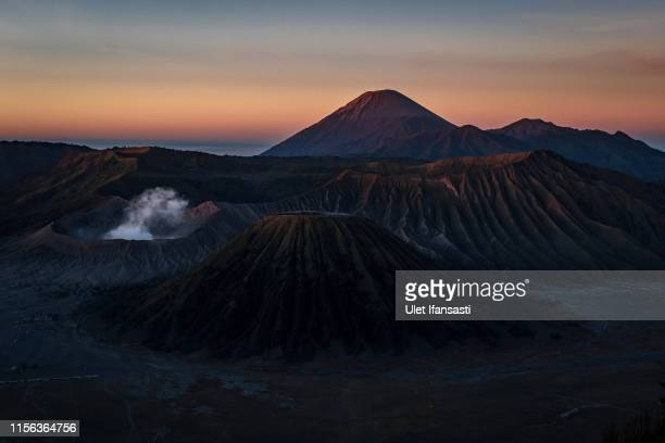 General view of the Bromo Tengger Semeru National Park where the Tenggerese Hindu Yadnya Kasada Festival is held on July 17 2019 in Probolinggo East...