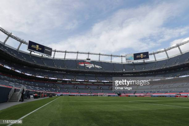 General view of the Bronco's Stadium prior the Group A match between Cuba and Martinique as part of the 2019 CONCACAF Gold Cup at Sports Authority...