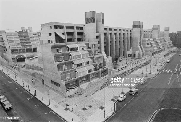 General view of the Brunswick Centre building designed by British architect Patrick Hodgkinson Bloomsbury London UK 14th January 1975