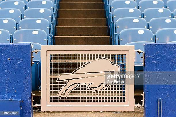 General view of the Buffalo Bills logo at New Era Field prior to the game between the Miami Dolphins and the Buffalo Bills on December 24 2016 in...
